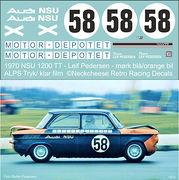 DE-015 1970 NSU 1200TTS Leif Pedersen (DK) Dark blue/orange carl