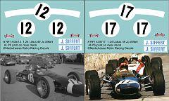 RF1-035/12 and RF1-035/17 Lotus 49 Jo Siffert Lotus