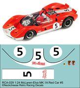 RCA-029 1-24 McLaren M1A #5 red/white car, DKK 60,- / € 8,80 + postage