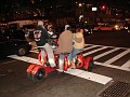 Traffic rules stricly enforced in NYC. Stop for the red light .