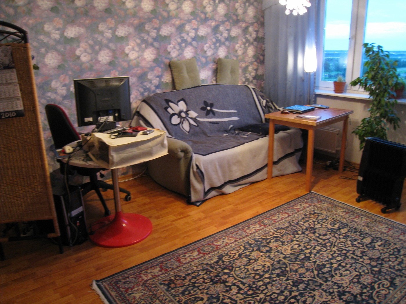 lounge in old flat