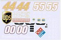 DAP Designs 2007 Dale Jarrett-David Reutimann-Michale Waltrip #00 Dominos Pizza-#44 UPS-#55 NAPA Test Cars