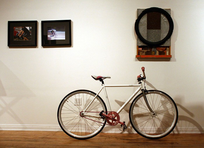 370 Isabelle's bike in gallery