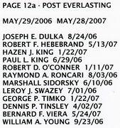 PAGE 12b - POST EVERLASTING - MAY 29, 2006-MAY 28, 2007