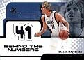 2001-02 EX Behind the Numbers Dirk Nowitzki (1)