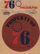 1974-75 Fleer Cloth Stickers Philadelphia 76ers (1)