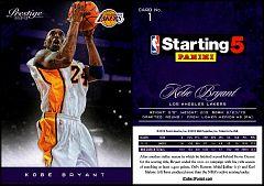 2012-13 Prestige Starting 5 #01