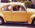 Marty and Brandy in VW Bug Los Gatos 1983