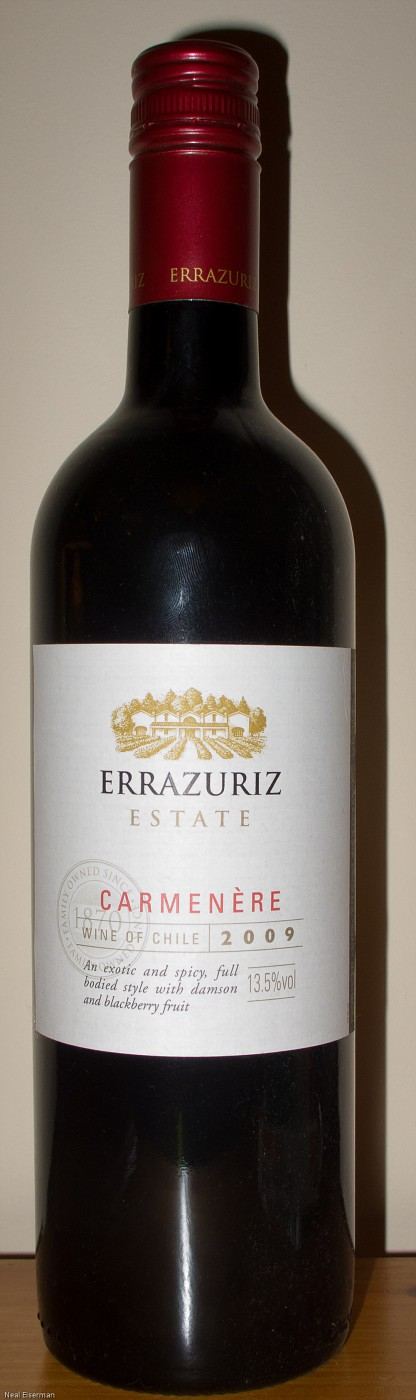 Errazuriz Carménère Estate 2009 001