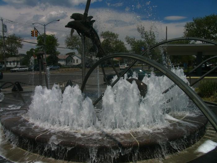 Dolphin Fountain at Midland Park,  S.I.