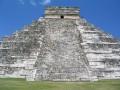 One of the 2 un-refurbished sides of Chichen Itza, Yucatan Peninsula, Mexico.