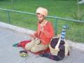 Street Musician ýn Istanbul, Turkey.