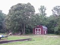 Oak tree and Storage Barn.