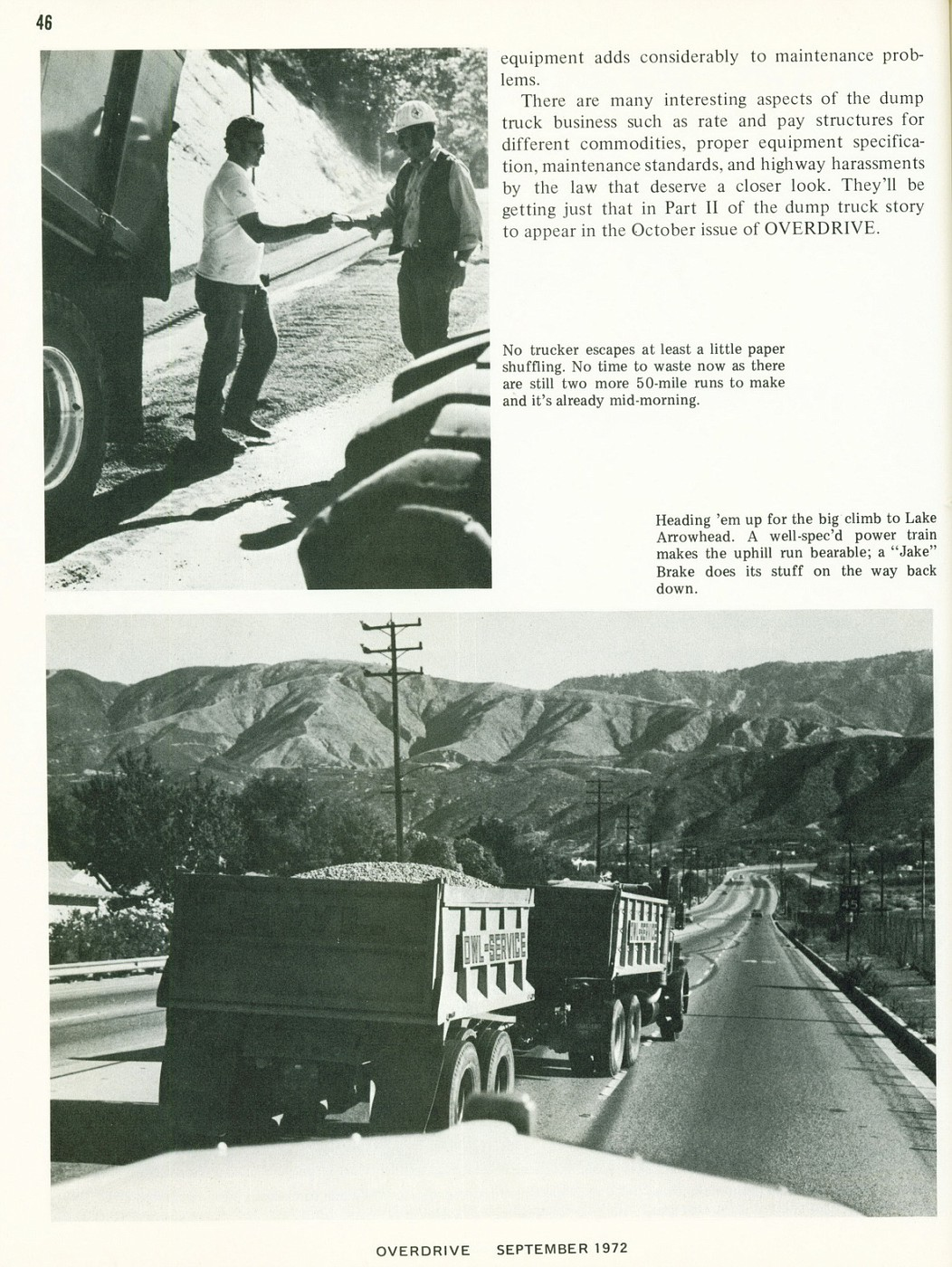 September 1972 Dump Trucking Part I 3