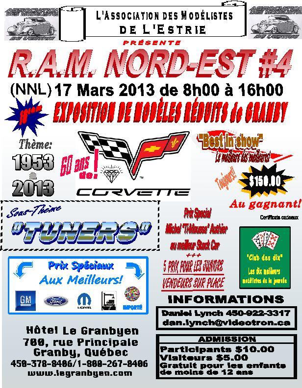 Le R.A.M. Nord-est #4, le prochain rendez vouz de Granby|||| Show_AME_2013fr-vi