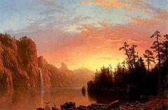Sunset in California [1864]