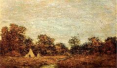 Encampment at Sunset [undated]