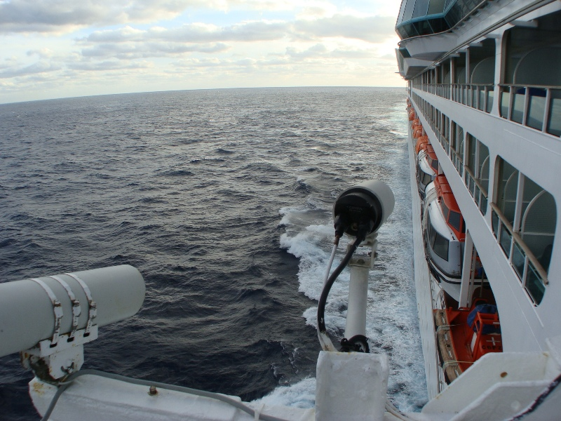 View from Bridge wing AFT