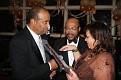 """Grand Gala de """"Bienvenue 2012 de l'ANOLIS VERT"""" avec le groupe """"Impresyon"""" au Verdi's de Long Island. Josie remettant une plaque à Frerot."""