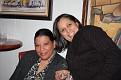 Super Bowl party chez Mireille et Fanfan. Mireille et Clara.