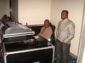 Sound Engineer Sony Louis, Ti Boeuf (Seated)