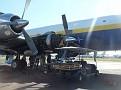 Loading the plane in Miami