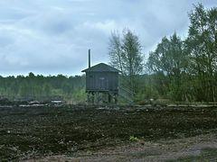 Hütte im Moor