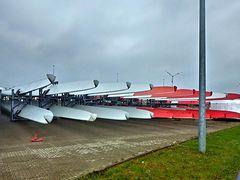 Flügel von Enercon-Windkraftwerken