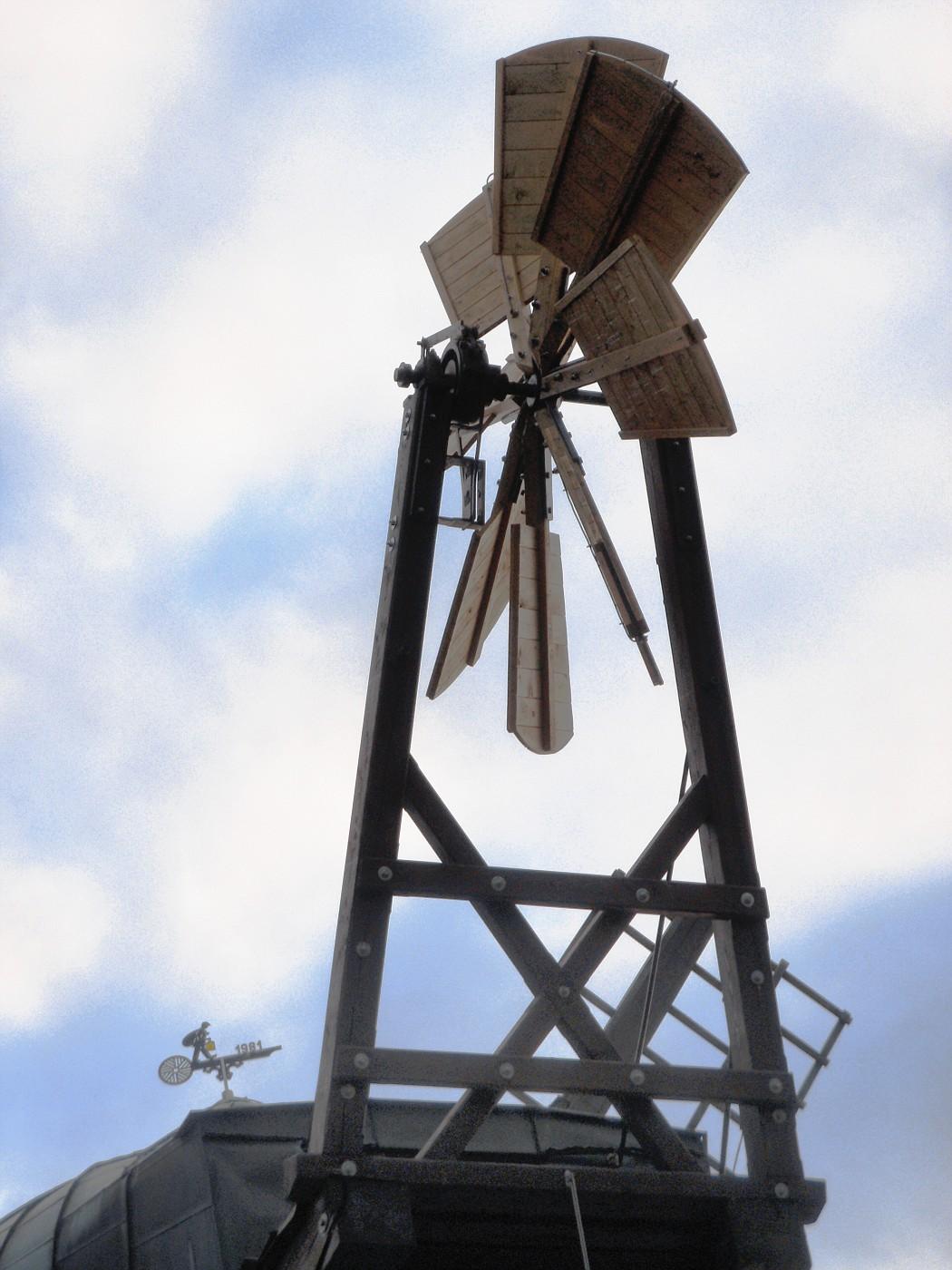 Windrose der Windmühle Tündern