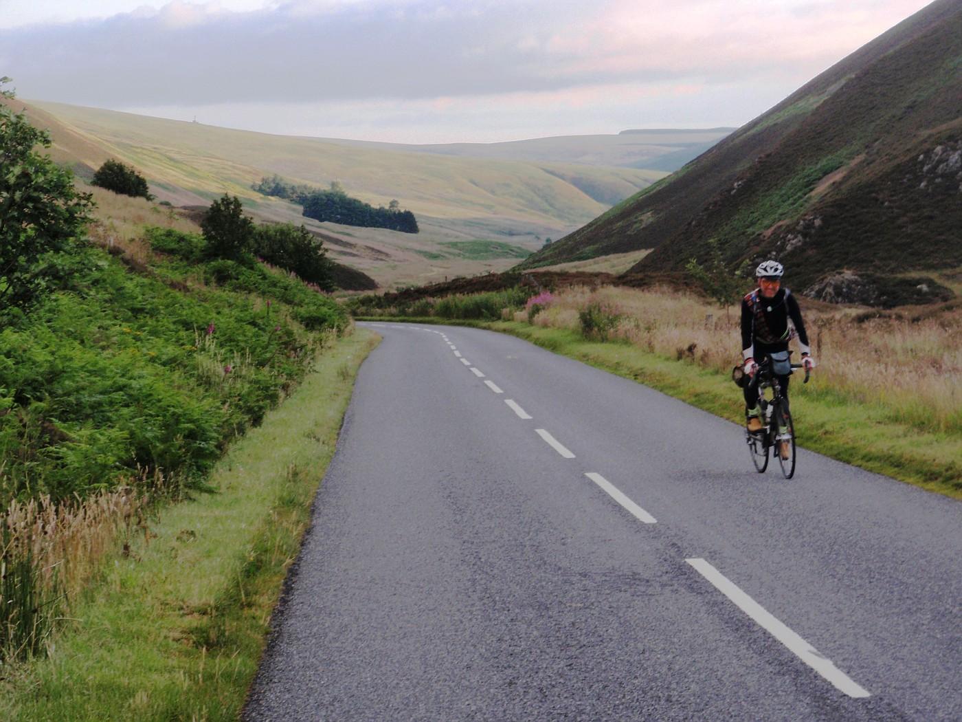 Road through Scottish hills