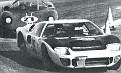 Walt Hansgen in his Ford leads the Ferrari of Pedro Rodriguez during the 1966 24 Hour race___