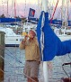 DB blowing the conch at sunset in Marsh Harbour.jpg