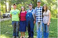 36-Rachel Duncan Harness Family. From left to right  Joe Harness, Rachel Duncan Harness, Bud Harness, Zach Harness and Dahlia Slaven Harness