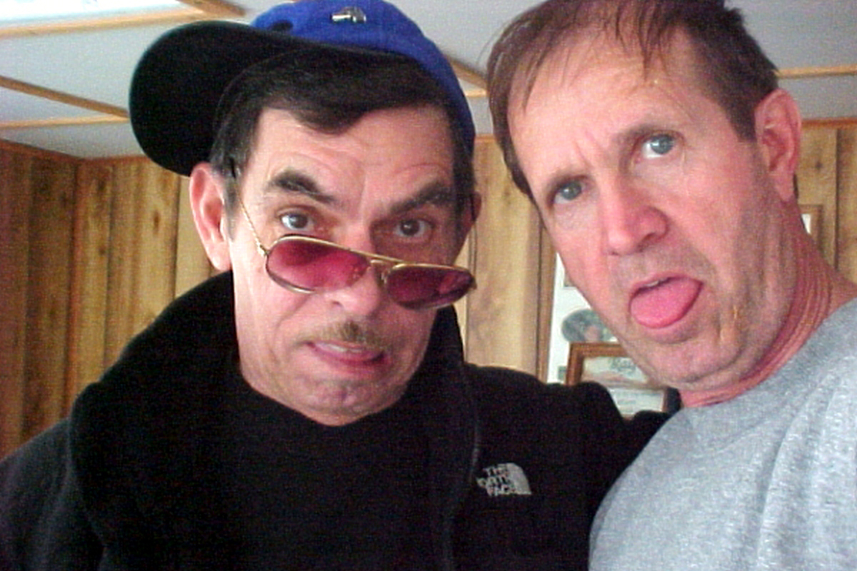 Chuck and E. Ray being silly