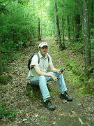 E. Ray Austin, hiking somewhere in BSF?