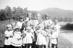 Sunday School Class at Straight Fork Church - About 1950-1952?