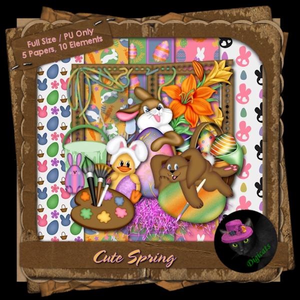 Cute Spring Mini Kit 2 - Painting Rabbits