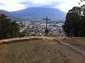 After Spanish Class, Carlos took me on a walking tour to Cerra de la Cruz.   That is Antigua below...