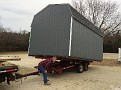 Delivery and Setting of a 12x16 Dutch Barn.  Now to Commence on Electrical work and Interior Finishing.  Merry Christmas!!!