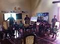 In Casa Xalteva, my Spanish School...  Granada, Nicaragua...  Has programs for local kids!!!  Here we are going through introductions...