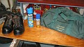Weather Proofing and Insect Guarding Selected Items.  The Duffel bag is taken empty and folded and usually brought home full.