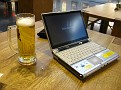 Getting myself setup at the Munich, Germany Airport.