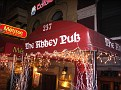 The Abbey Pub is on 105th St...  just a few blocks away from the hostel... off of Amsterdam Street.