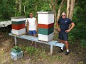 """Ivan on left and Phil by the """"Honey Bees""""..."""