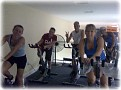 Monday Sept 28-09 - 7PM  Donna's Spin Class with (LtoR) Michelle, Erin, me, Sherryl, Patti and others.   A high energy class for sure!!!  Thanks Donna and Everyone!!! (and to John for taking the photo!!!)