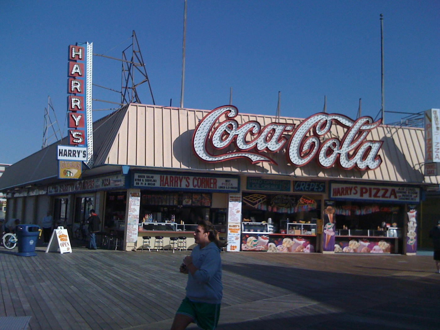 Jogging and Juggling my iPhone whilst on my Sunday AM run on the Wildwood Boardwalk...