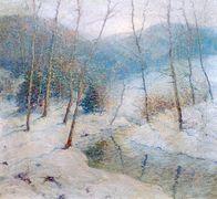 Snowy Winter Stream [undated]