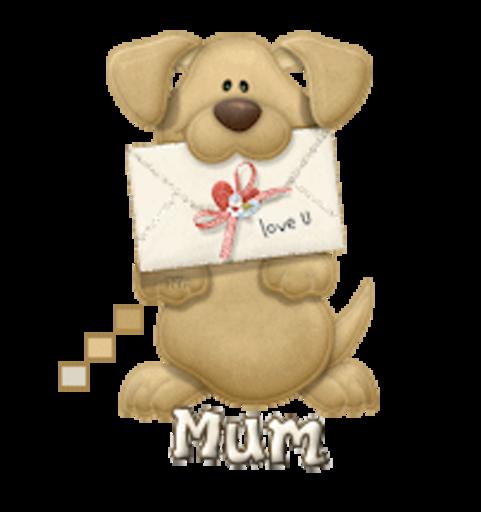 Mum - PuppyLoveULetter