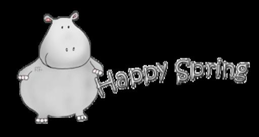 Happy Spring - CuteHippo2018