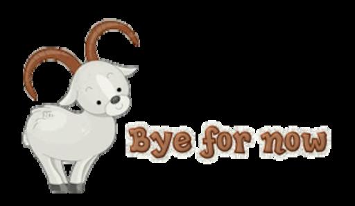 Bye for now - BighornSheep